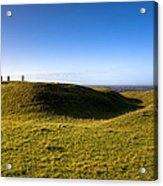 Ancient Hill Of Tara In The Winter Sun Acrylic Print by Mark Tisdale