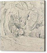 Ancient Trees Lullingstone Park Acrylic Print by Samuel Palmer