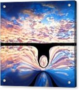Angel In The Sky Acrylic Print by Alec Drake