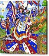 Angel Of American Patriotism Acrylic Print by Jacquelin Vanderwood