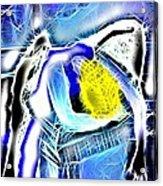 Angel Receiving The Spirit Acrylic Print by Saundra Myles