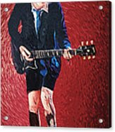 Angus Young Acrylic Print by Taylan Soyturk