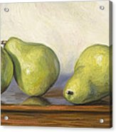 Anjou Pears Acrylic Print by Lucie Bilodeau