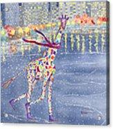 Annabelle On Ice Acrylic Print by Rhonda Leonard