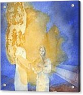 Annunciation Acrylic Print by John Meng-Frecker