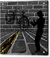 Another Bike On The Wall Acrylic Print by Barbara St Jean