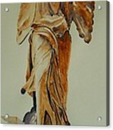 Another Perspective Of The Winged Lady Of Samothrace  Acrylic Print by Geeta Biswas