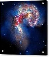 Antennae Galaxies Collide 2 Acrylic Print by Jennifer Rondinelli Reilly - Fine Art Photography