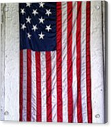 Antique American Flag Acrylic Print by Olivier Le Queinec