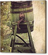 Antique Butter Churn Acrylic Print by Linsey Williams