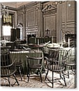 Antique Independence Hall Acrylic Print by Olivier Le Queinec