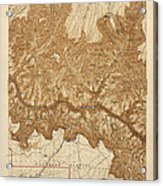 Antique Map Of Grand Canyon National Park - Usgs Topographic Map - 1903 Acrylic Print by Blue Monocle