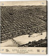 Antique Map Of Little Rock Arkansas By H. Wellge - 1887 Acrylic Print by Blue Monocle