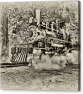Antique Train Acrylic Print by Bill Wakeley