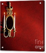Antique Wall Sconce Acrylic Print by Olivier Le Queinec