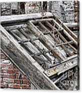 Antique Wood Window Acrylic Print by Olivier Le Queinec