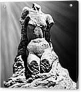Aphrodite Of Milos Styled Sand Castle Acrylic Print by Tom Gari Gallery-Three-Photography