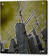 Apocalypse At Nyc Acrylic Print by Coqle Aragrev