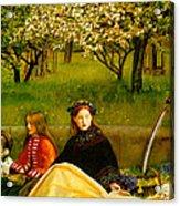 Apple Blossoms Acrylic Print by John Everette Millais