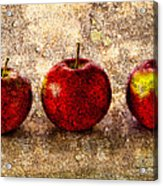 Apple Acrylic Print by Bob Orsillo