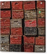 Apple Crates Acrylic Print by Garry Gay