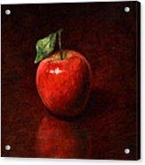 Apple Acrylic Print by Mark Zelmer