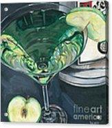 Apple Martini Acrylic Print by Debbie DeWitt