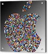 Apple Mosaic On Gradient Acrylic Print by Yury Malkov