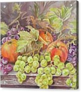 Apples And Grapes Acrylic Print by Summer Celeste