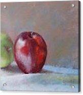 Apples Acrylic Print by Nancy Stutes