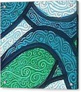 Aqua Motion Acrylic Print by Genevieve Esson