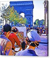 Arc De Triomphe Painter Acrylic Print by Chuck Staley