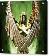 Archangel Azrael Acrylic Print by Bill Tiepelman
