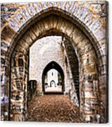 Arches Of Valentre Bridge In Cahors France Acrylic Print by Elena Elisseeva