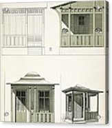 Architecture In Wood, C.1900 Acrylic Print by Richard Dorschfeldt