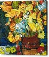 Arizona Sunflowers Acrylic Print by Sherry Harradence