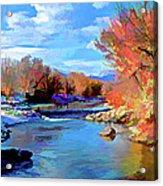 Arkansas River In Salida Co Acrylic Print by Charles Muhle