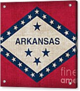 Arkansas State Flag Acrylic Print by Pixel Chimp