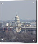 Arlington National Cemetery - View From Arlington House - 12124 Acrylic Print by DC Photographer