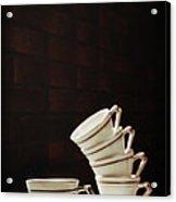 Art Deco Teacups Acrylic Print by Amanda And Christopher Elwell