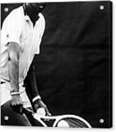 Arthur Ashe Playing Tennis Acrylic Print by Retro Images Archive