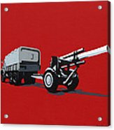 Artillery Gun Acrylic Print by Slade Roberts