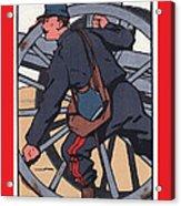 Artilleur 1915 With Fgb Border Acrylic Print by A Morddel