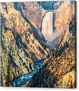 Artist Point In Yellowstone Acrylic Print by Andres Leon