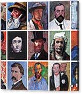 Artist Portraits Mosaic Acrylic Print by Tom Roderick