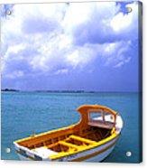 Aruba. Fishing Boat Acrylic Print by Anonymous