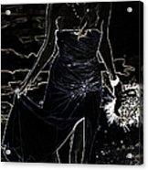 As Aphrodite Coming From Sea Foam. Black Art Acrylic Print by Jenny Rainbow