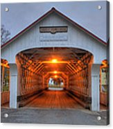 Ashuelot Covered Bridge Acrylic Print by Joann Vitali