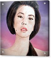 Asian Beauty Fade To Black Version Acrylic Print by Jim Fitzpatrick