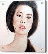 Asian Beauty Acrylic Print by Jim Fitzpatrick